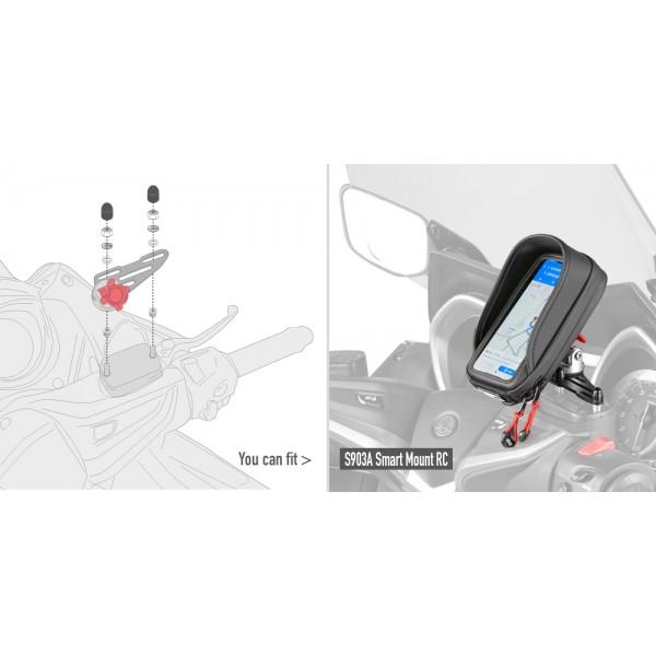 FORZA 125 ('15->) ΚΙΤ ΤΟΠΟΘΕΤΗΣΗΣ ΒΑΣΗΣ SMARTPHONE GIVI S903A