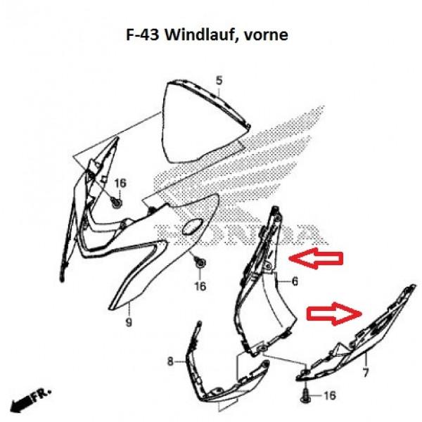 CARBON ΠΙΣΩ ΚΑΛΥΜΜΑ ΦΑΝΑΡΙΟΥ ΕΜΠΡΟΣ CB500F ('13-'15)