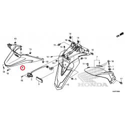 ΚΑΛΥΜΜΑ ΦΩΤΟΣ ΠΙΝΑΚΙΔΑΣ FORZA 125 ('15-'17) Γνήσια Ανταλλακτικά Honda