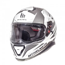 MT THUNDER 3 SV EFFECT PEARL WHITE/SILVER/ANTHRACITE Κράνη